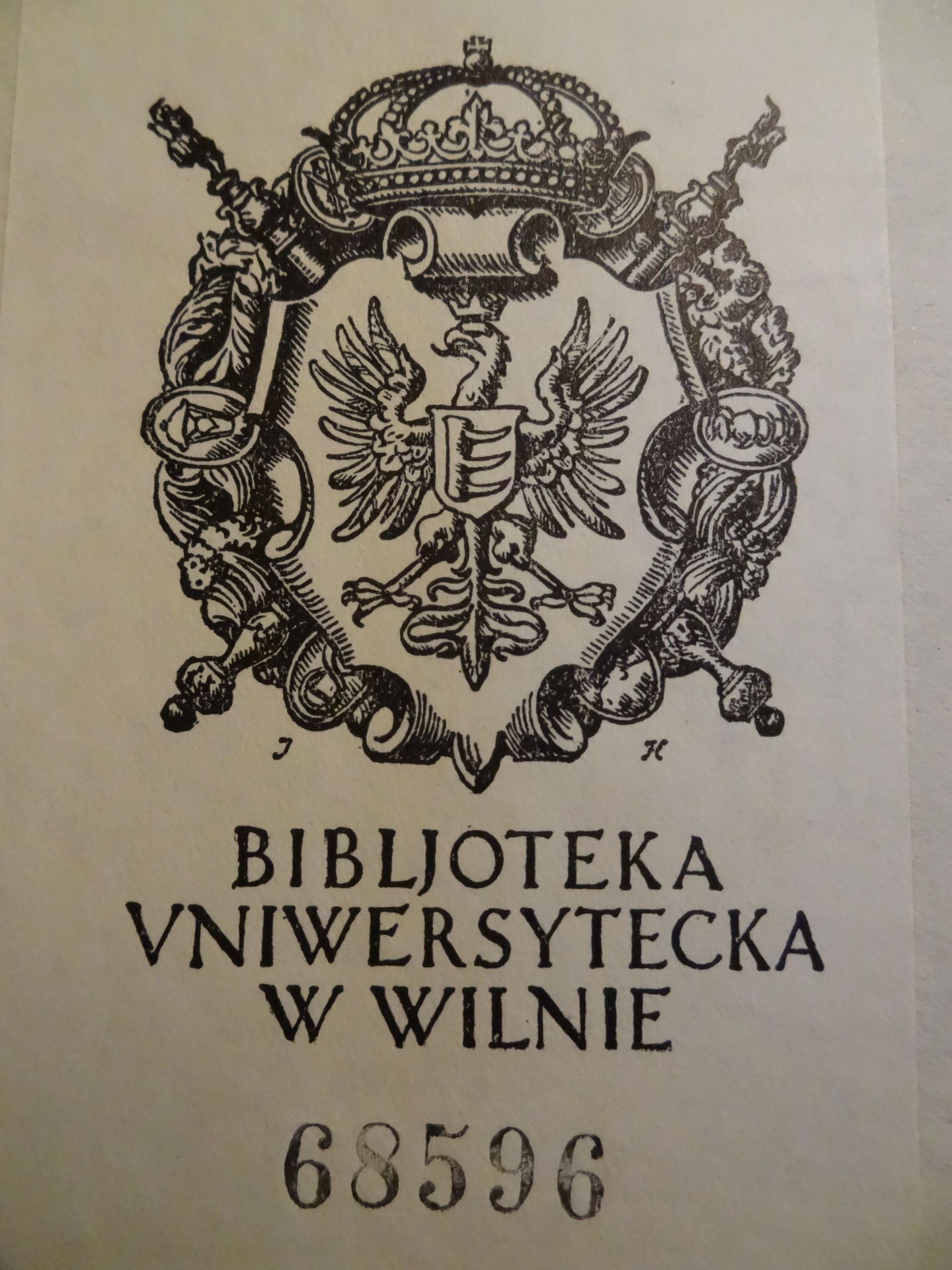 Stamp of the Vilnius University Library (about 1935)
